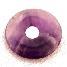 Chevron Amethyst Donut-Anhänger, ca. 35mm