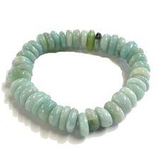Amazonit Armband | Edelstein-Linsen auf Strechband | Edelsteinarmband mit schön geschliffenen Amazonitsteinen | Harmonie und Lebensfreude