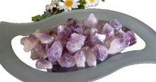 Amethyst Naturspitzen | Dekorationssteine für Zimmerbrunnen | Natur belassene Spitzen | Dekosteine 1 kg verpackt | violetter Quarz