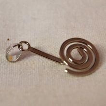 Donuthalter Spirale | Halter für Pi-Scheiben | Lebensspirale als Donut Schmuck-Anhänger Halter