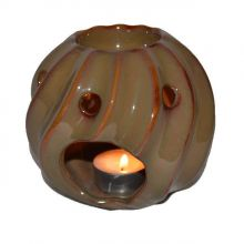 Duftlampe Keramik - Duftteelicht hellbraun