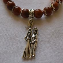 Edelstein Armband Goldfluss Liebespaar