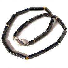 Edelstein-Halskette Hämatit, ca. 49 cm