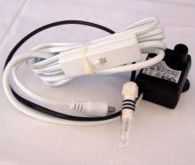Eden Brunnenpumpe 104 L ohne Adapter | Zimmerbrunnen Pumpe mit weißem Kabel und Zwischenschalter, Berleuchtung | ohne Netzteil-Akku