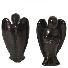 Turmalin Engel-Figur | Schörl Schutzengel | Edelsteinengel zum Aufstellen ca. 4,5 cm